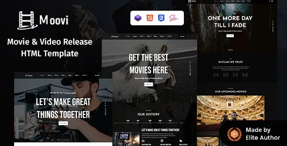 Video Production & Release HTML Template