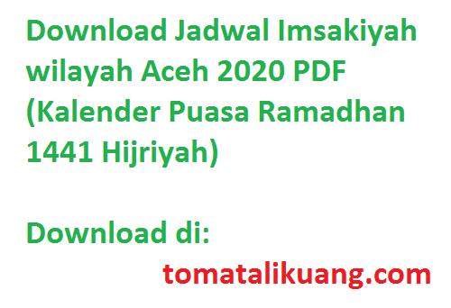 jadwal imsakiyah, waktu imsak, waktu buka puasa, waktu sholat wilayah aceh 2020 puasa ramadhan 1441 hijriyah