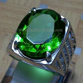 Cincin Batu Green Tektite - ZP 861