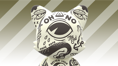 "OH-NO! SuperJanky 8"" Vinyl Figure by McBess x SUPERPLASTIC"