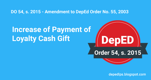 Increase of Payment of Loyalty Cash Gift