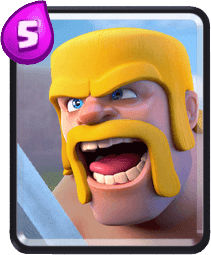 Carta dos Bárbaros do Clash Royale