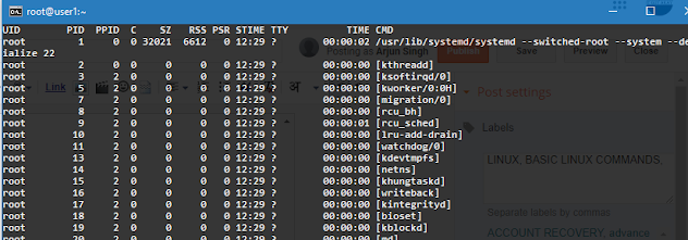 how to monitor system in Linux with PS commands