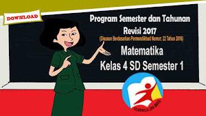 Program Semester dan Tahunan Matematika Kelas 4 SD Semester 1 Kurikulum 2013 Rev 2017