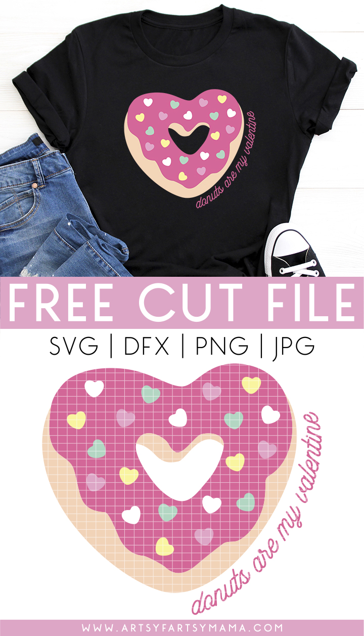 Donuts are My Valentine FREE Cut File