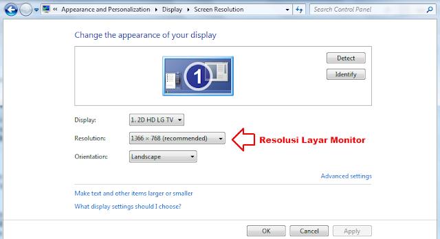 Resolusi Layar Monitor
