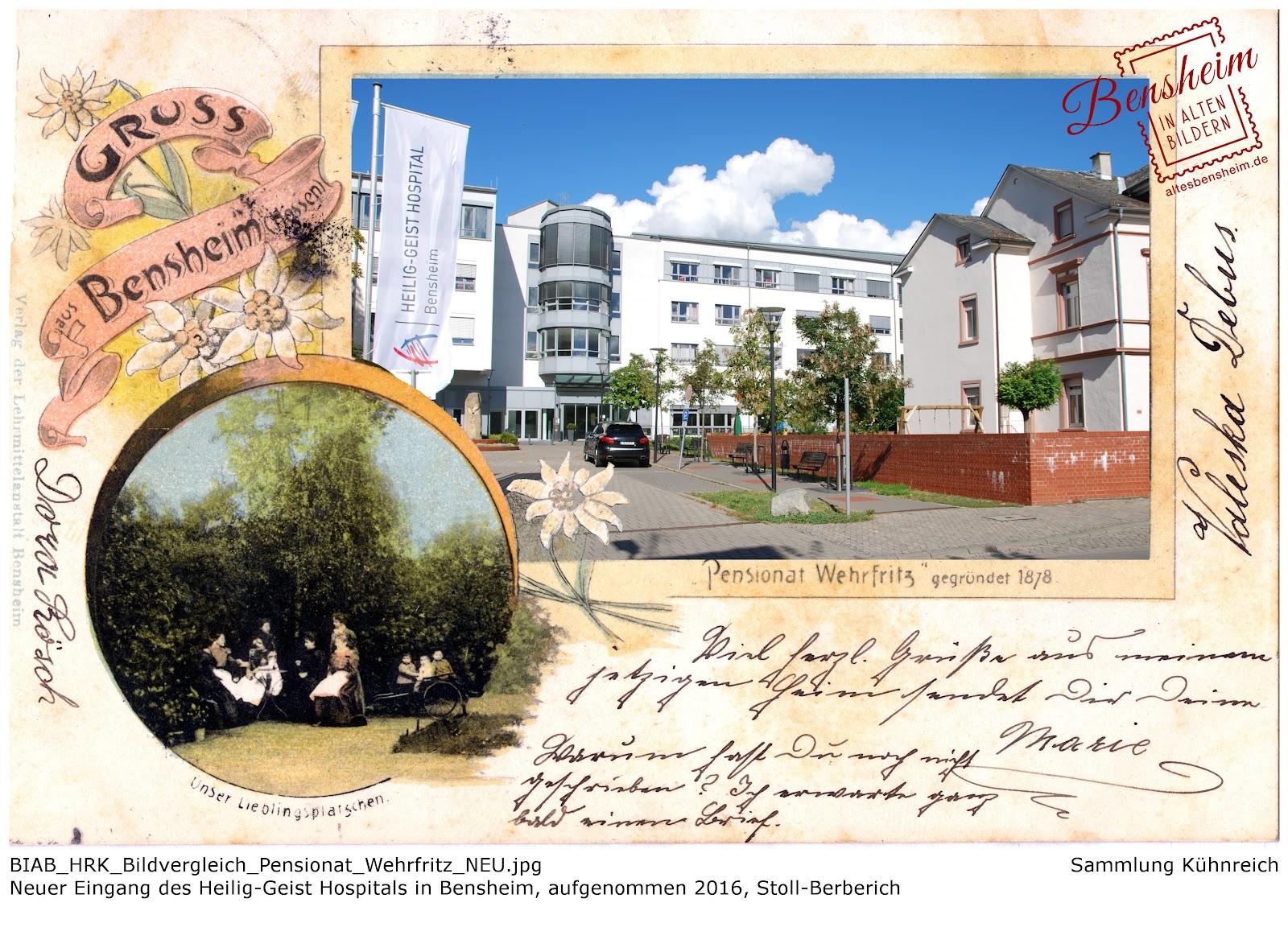 Pensionat Wehrfritz, Bildvergleich, Stoll-Berberich 2016