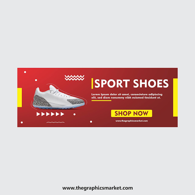 Shoe Banner Template Design