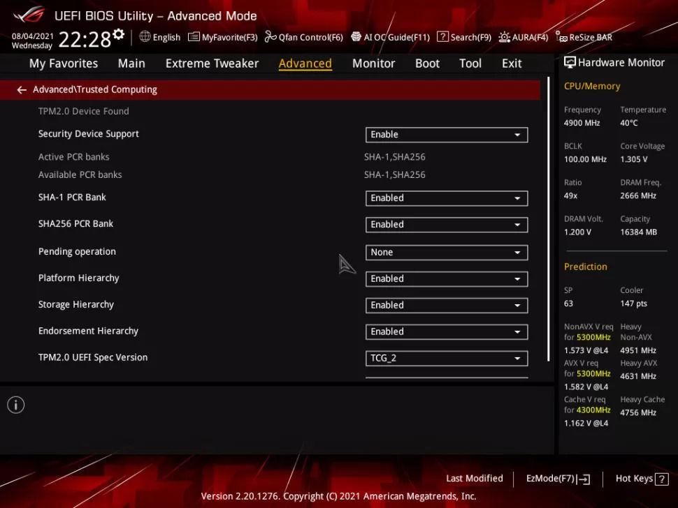 Asus ROG Anakart BIOS