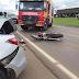 Acidente envolve moto e dois carros na BR-282 em Campos Novos