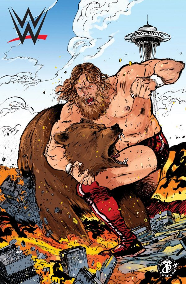 Daniel Bryan Wrestles a Bear In The New WWE Comic Book