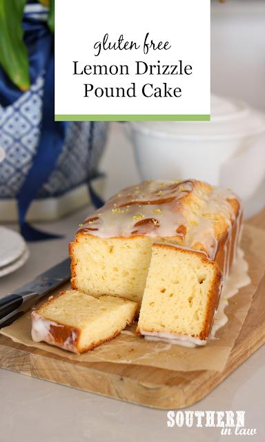 Gluten Free Lemon Drizzle Pound Cake Recipe with Greek Yogurt - easy gluten free cake recipes