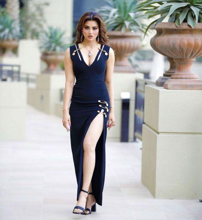 Actress: Urvashi Rautela Stuns You In a Navy Blue Dress
