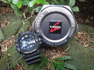 Jam Casio G-Shock GA-400GB-1A Seken Original Fullset Seperti Baru