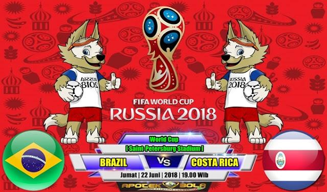 Prediksi Brazil vs Costa Rica 22 Juni 2018