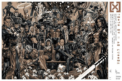 "San Diego Comic-Con 2020 Exclusive X-Men ""House of X  Powers of X"" Marvel Screen Print by Mark Brooks x Mondo"