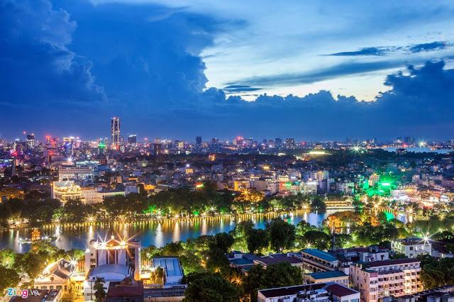 tranh đẹp thành phố hà nội
