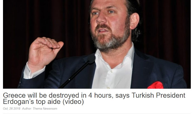 Erdogan's advisor Yigit Bulut: We destroy Greece within 3-4 hours in case of war with Turkey