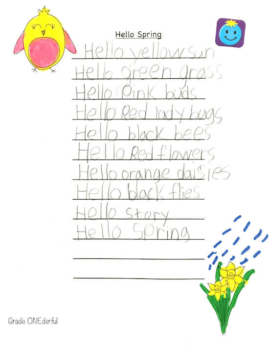 Hello Spring poem