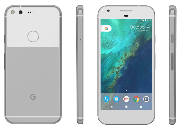 Here are Pixel and Pixel XL in blue and silver color