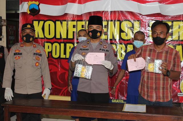 Dua Tersangka Pengedar Obat Terlarang Diamankan Satresnarkoba Polres Purbalingga