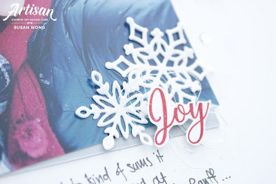 Snow is Glistening by Stampin! Up - Layout with Snowfall Dies - Susan Wong, Artisan Design Team
