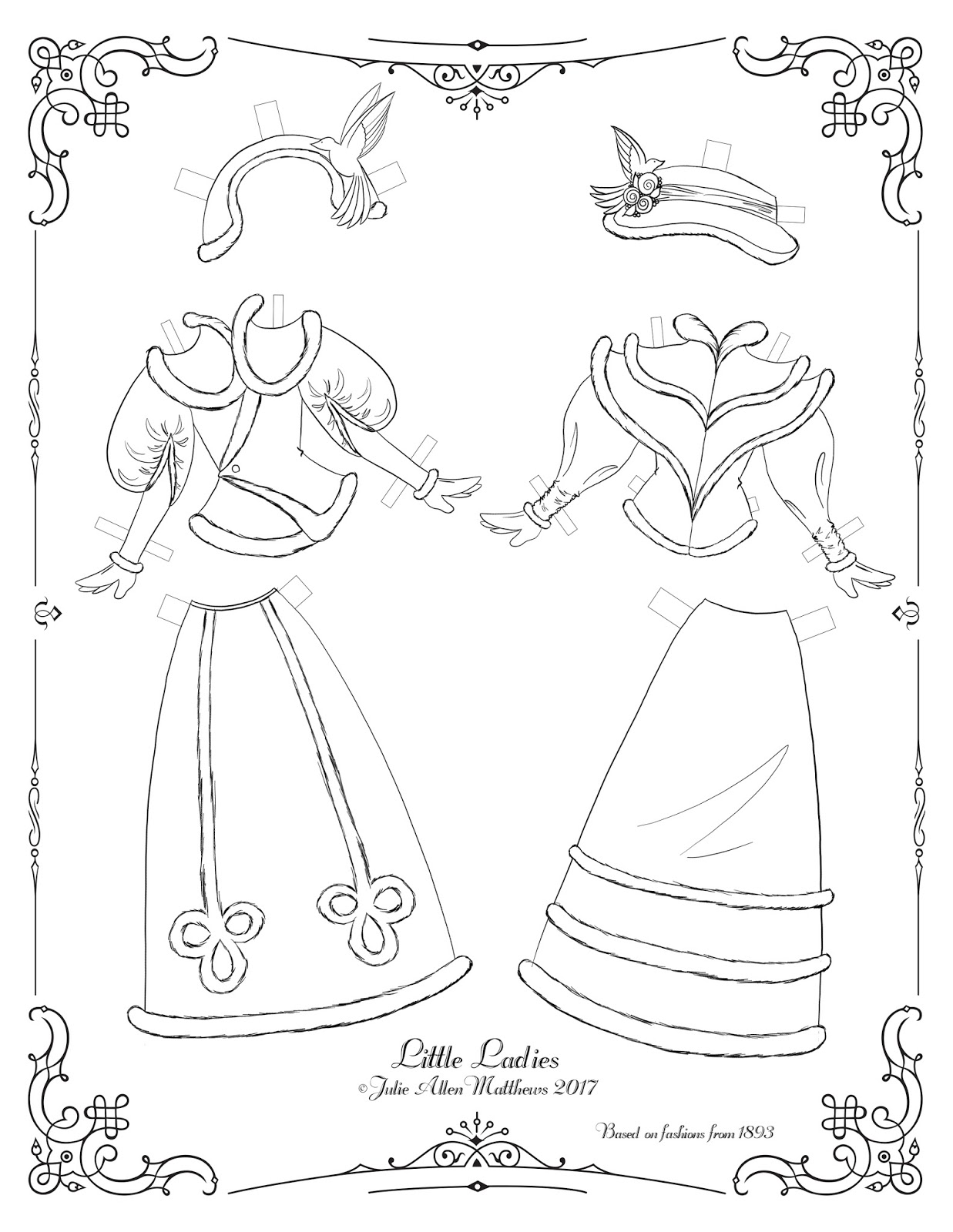 Paper Doll School: Little Ladies: Outfit Sheet 4