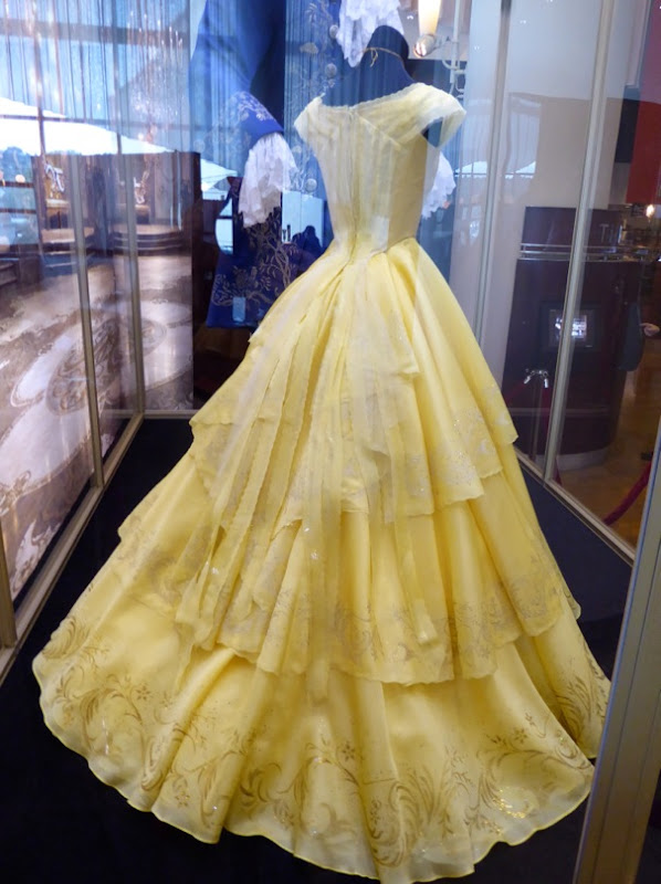 Beauty and the Beast Belle yellow gown back