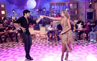 Lola Melnick faz uma apresentação de dança de salão – Lourival Ribeiro/SBT