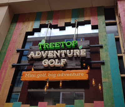 Treetop Adventure Golf at the Highcross Shopping Centre in Leicester