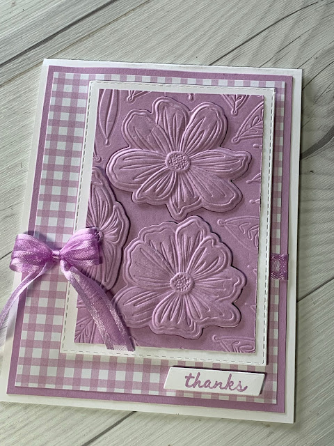 Floral handmade thank you card using the Stmapin' Up! Art In Bloom Bundle