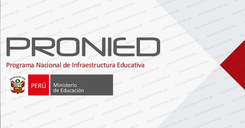 PRONIED: Cómo solicitar reunión con especialistas del Programa Nacional de Infraestructura Educativa