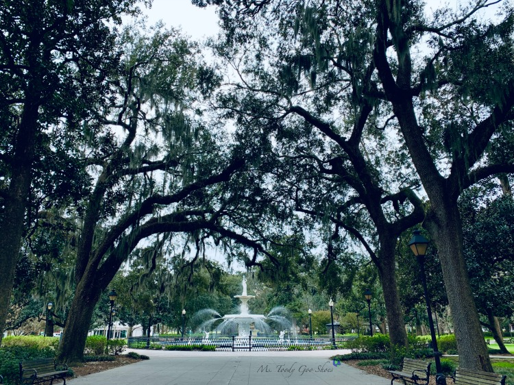 Forsyth Park:  #6 of 12 Things To Do in 24 Hours in Savannah, GA | Ms. Toody Goo Shoes