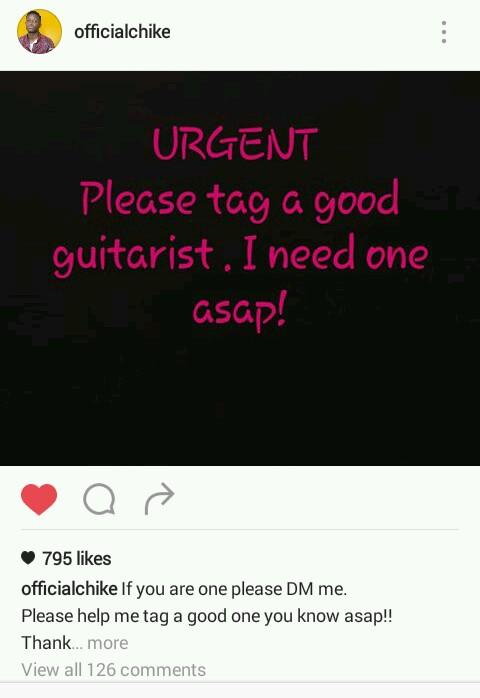 Urgent guitarists needed