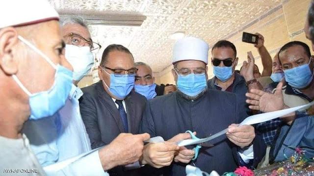 وزير الأوقاف  خلال افتتاح المسجد بالشرقيةويرد على تقارير اعتذاره عن افتتاح مسجد