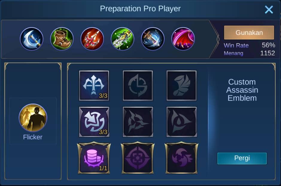 build item freya mobile legends (ML)