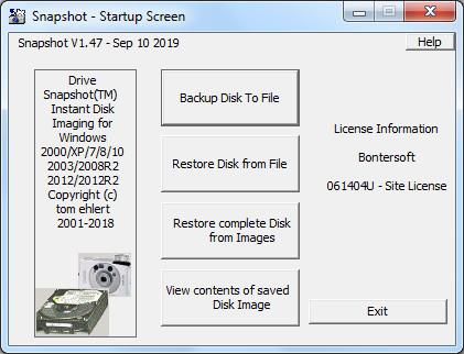 Screenshot Drive SnapShot 1.47.0.18597 Full Version