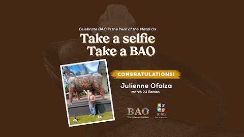 """March 23 Winner """"Take a Selfie, Take a BAO"""""""