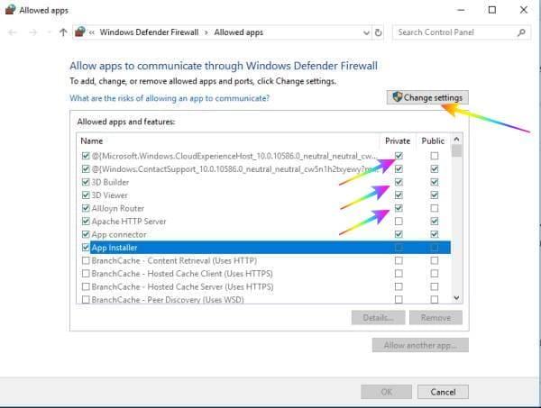 Menghentikan Windows Firewall yang memblokir internet pada windows 10