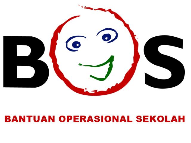 Logo BOS Background Putih Tulisan Merah