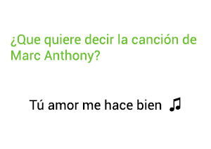 Significado de la canción Tú Amor Me Hace Bien Marc Anthony.