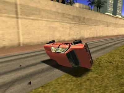 gta san andreas real car crash mod
