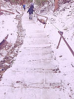 冬の鞍馬山へ