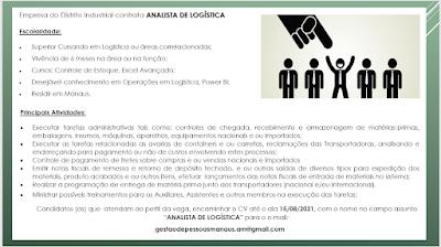 ANALISTA DE LOGÍSTICA