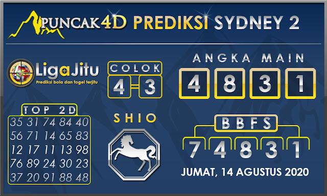 PREDIKSI TOGEL SYDNEY2 PUNCAK4D 14 AGUSTUS 2020