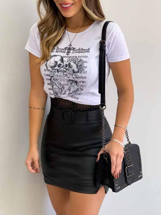 10 looks básico com t-shirt para copiar ainda hoje!