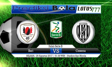 Prediksi Pertandingan antara Bari vs Cesena 29 Agustus 2017