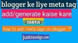 how to add meta tags in Hindi, meta tags blog me kaise banaye, blogger me meta tags create kaise kare
