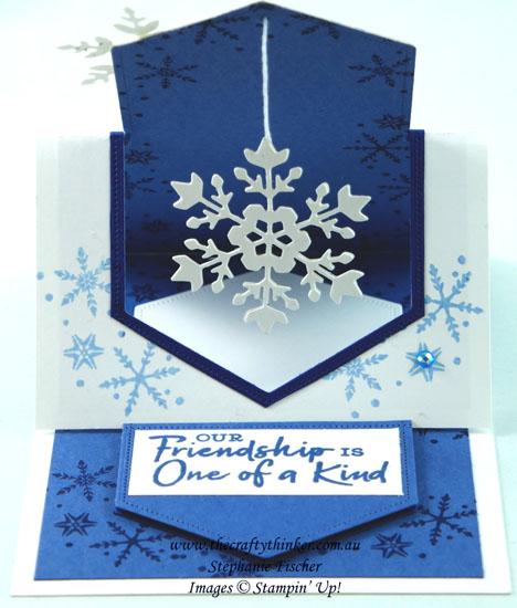 #thecraftythinker #funfold #stampinup #cardmaking #apertureeaselcard #snowflakewishes #xmascard , Aperture Easel Card, Fun Fold, Snowflake Wishes Bundle, Christmas Card, Stampin' Up Demonstrator, Stephanie Fischer, Sydney NSW