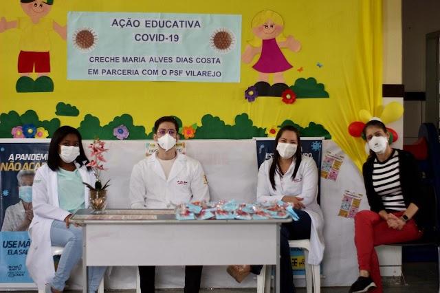Escolas municipais recebem ações educativas contra a covid-19
